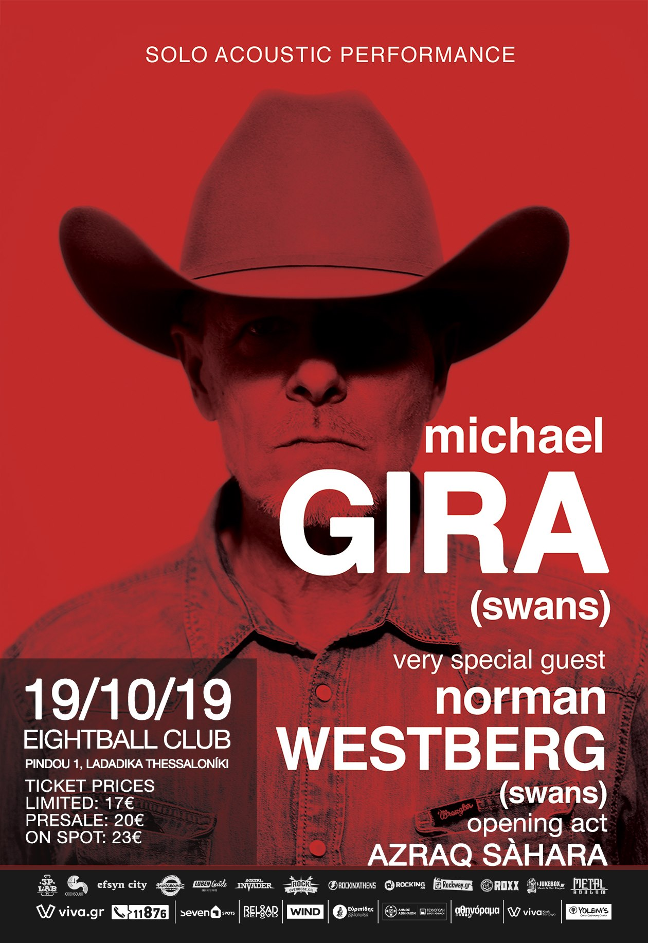 Michael Gira Thessaloniki poster