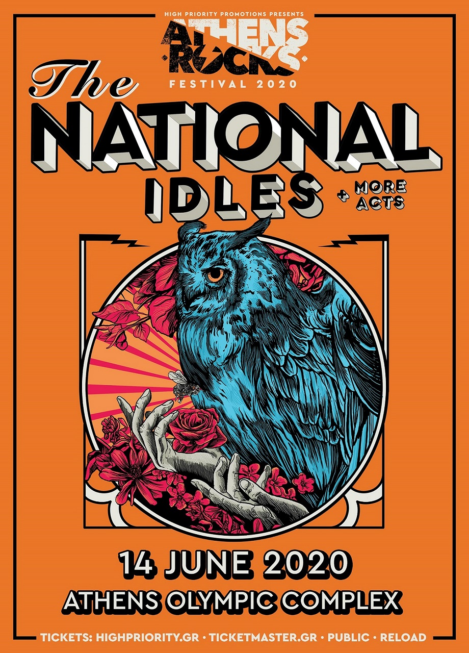 The National Idles AthensRocks 14 June poster
