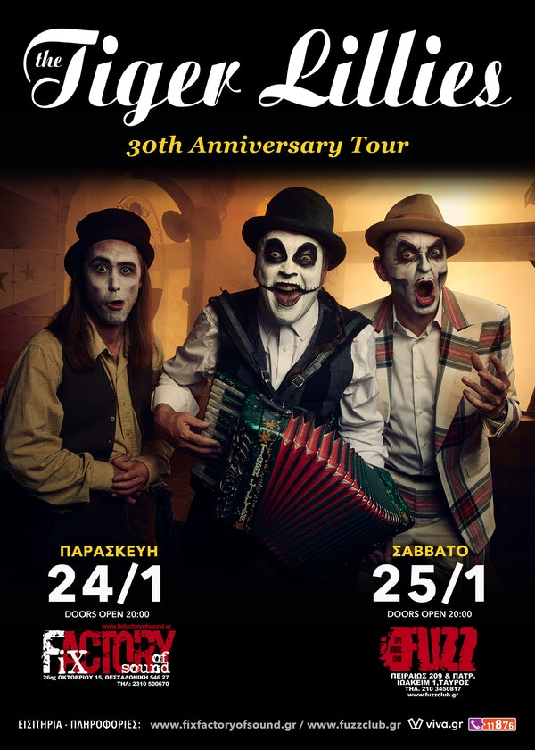 The Tiger Lillies poster