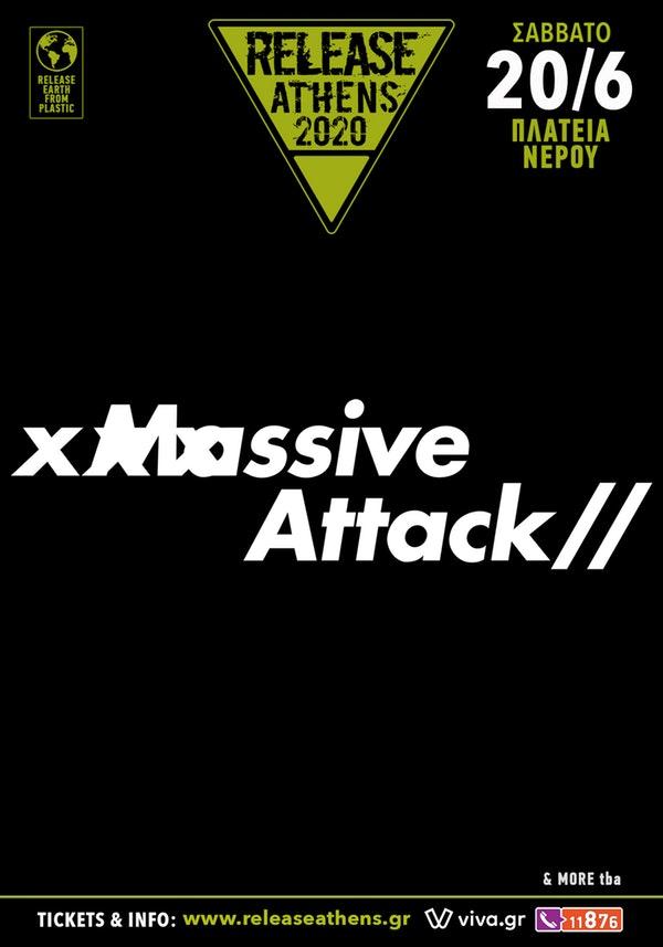 Release Athens Massive Attack 20 June poster