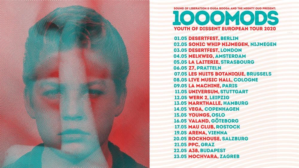 1000mods Eurοpean tour dates May 2020