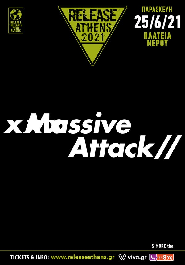 Massive Attack Release Athens 2021 poster